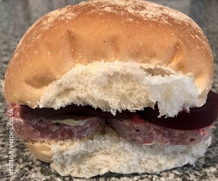 Beetroot Corned Beef Rebus Roll Ian Rankin Sandwich