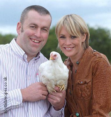 Jenni Falconer With Chicken Farmer Willie Lean