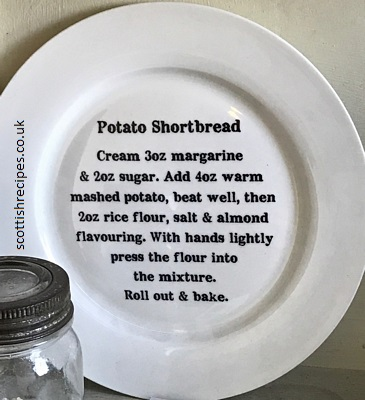 Plate Potato Shortbread Recipe
