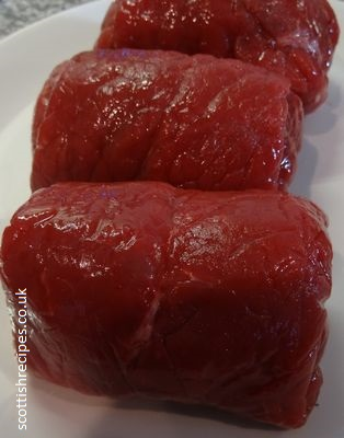 raw beef olives